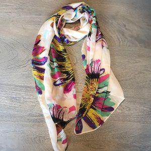 Accessories - Floral Silky Scarf